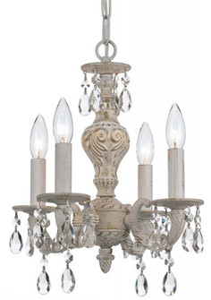 Paris Market 4 Light Clear Crystal White Mini Chandelier (5024-AW-CL-MWP)