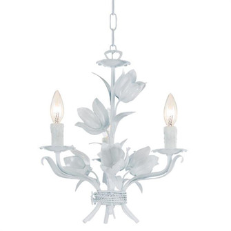 Southport 3 Light Wet White Mini Chandelier (4813-WW)