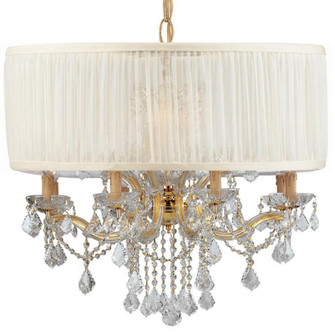 Brentwood 12 Light Drum Shade Gold Chandelier (205|4489-GD-SAW-CLM)