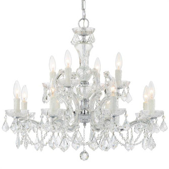 Maria Theresa 12 Light Clear Crystal Chandelier (205|4479-CH-CL-MWP)