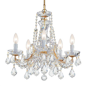 Maria Theresa 5 Light Swarovski Strass Crystal Gold Mini Chandelier (4476-GD-CL-S)