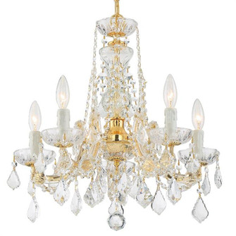 Maria Theresa 5 Light Clear Crystal Gold Mini Chandelier (4476-GD-CL-MWP)