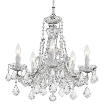 Maria Theresa 5 Light Clear Crystal Chrome Mini Chandelier (4476-CH-CL-MWP)