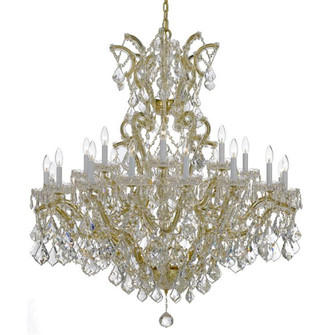 Maria Theresa 25 Light Clear Crystal Gold Chandelier (205|4424-GD-CL-MWP)