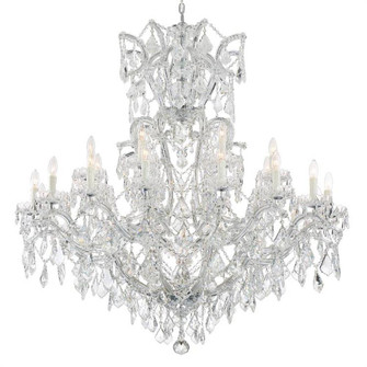 Maria Theresa 25 Light Clear Crystal Chrome Chandelier (205|4424-CH-CL-MWP)