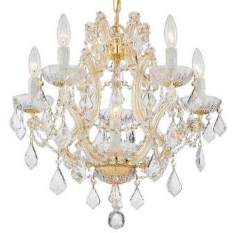 Maria Theresa 6 Light Swarovski Strass Crystal Gold Mini Chandelier (4405-GD-CL-S)