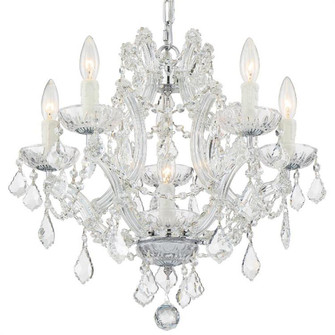 Maria Theresa 6 Light Swarovski Strass Crystal Chrome Mini Chandelier (4405-CH-CL-S)