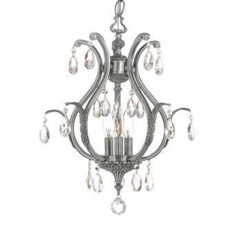 Dawson 3 Light Spectra Crystal Pewter Mini Chandelier (5560-PW-CL-SAQ)