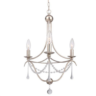 Metro 3 Light Antique Silver Mini Chandelier (423-SA)