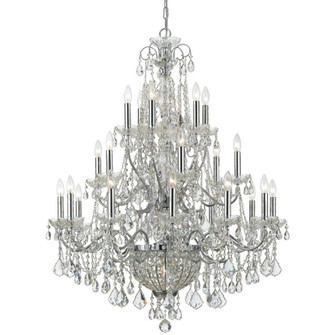 Imperial 26 Light Crystal Chrome Chandelier (205|3229-CH-CL-MWP)