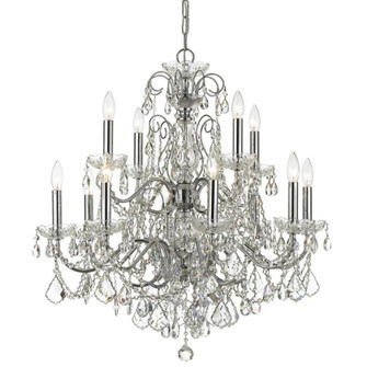 Imperial 12 Light Crystal Chrome Chandelier (205|3228-CH-CL-MWP)