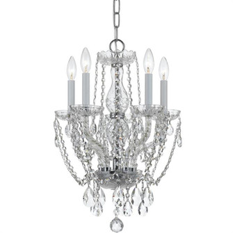 Traditional Crystal 5 Light Swarovski Strass Crystal Mini Chandelier (1129-CH-CL-S)