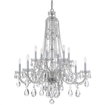 Traditional Crystal 12 Light Spectra Crystal Chrome Chandelier (205|1112-CH-CL-SAQ)