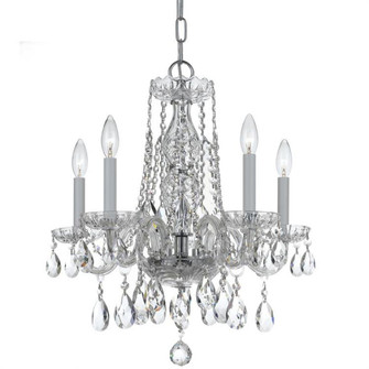 Traditional Crystal 5 Light Swarovski Strass Crystal Chrome Mini Chandelier (1061-CH-CL-S)