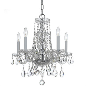 Traditional Crystal 5 Light Clear Crystal Chrome Mini Chandelier (1061-CH-CL-MWP)