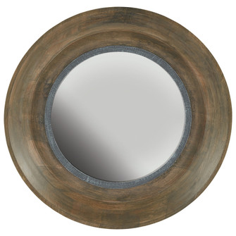 Brown Washed Wood and Iron Mirror (42|730204MM)