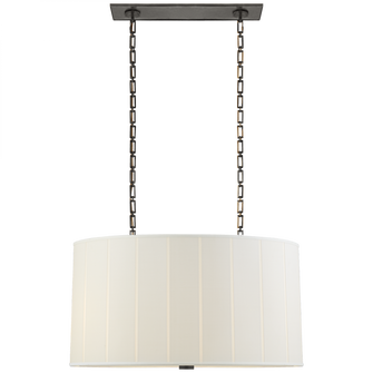 Perfect Pleat Oval Hanging Shade (279 BBL 5031BZ-S)