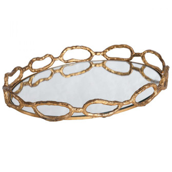 Uttermost Cable Chain Mirrored Tray (85|17837)