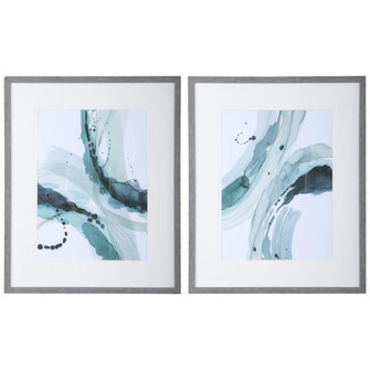 Uttermost Depth Abstract Watercolor Prints, S/2 (85|33710)