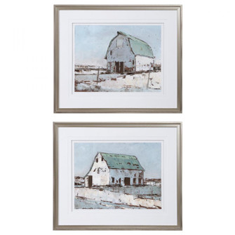 Uttermost Plein Air Barns Framed Prints Set/2 (85|33689)