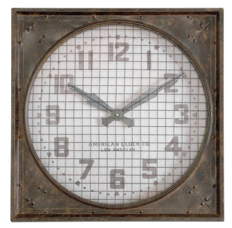 Uttermost Warehouse Wall Clock W/ Grill (85|06083)