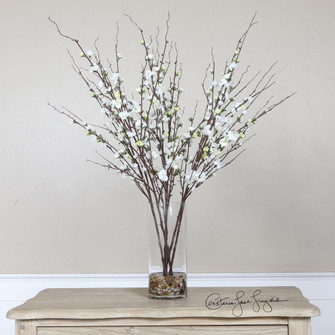 Uttermost Quince Blossoms Silk Centerpiece (85|60128)