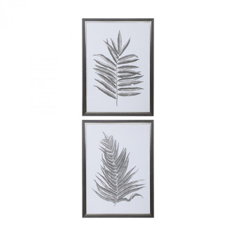 Uttermost Silver Ferns Framed Prints Set/2 (85|33685)