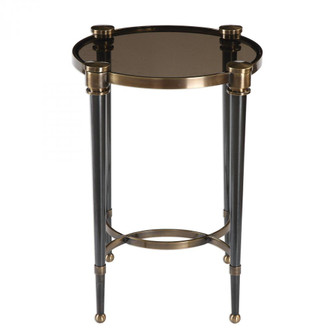 Uttermost Thora Brushed Black Accent Table (85|24731)