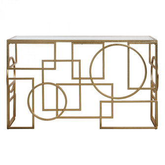 Uttermost Metria Gold Console Table (85|24708)