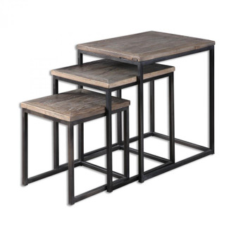 Uttermost Bomani Wood Nesting Tables Set/3 (85|24460)