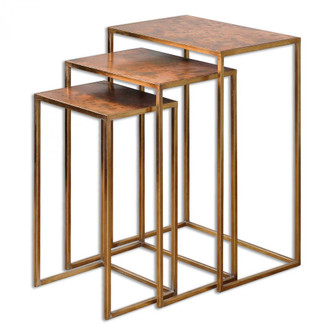 Uttermost Copres Oxidized Nesting Tables Set/3 (85|24449)