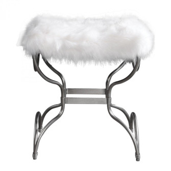 Uttermost Channon White Fur Small Bench (85|23496)
