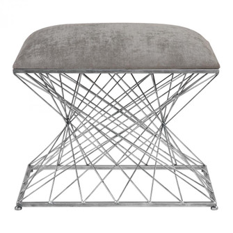 Uttermost Zelia Silver Accent Stool (85 23410)