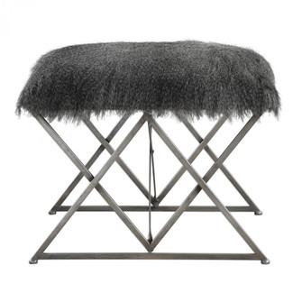 Uttermost Astairess Fur Small Bench (85 23373)