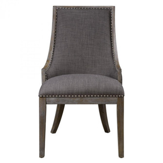 Uttermost Aidrian Charcoal Gray Accent Chair (85 23305)