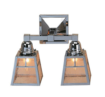 a-line shade 2 light sconce without overlay (empty) (59 AS-2ECR-MB)