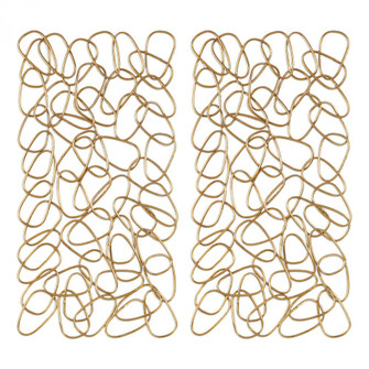 Uttermost In The Loop Gold Wall Art S/2 (85 04124)