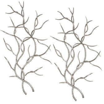 Uttermost Silver Branches Wall Art S/2 (85|04053)