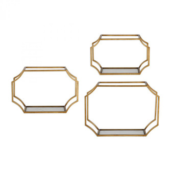 Uttermost Lindee Gold Wall Shelves S/3 (85|04048)