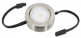 MVP LED Puck Light, 120 Volts, 4.3 Watts, 235 Lumens, Nickel (44|MVP-1-30-NK-B)