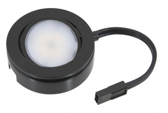 MVP LED Puck Light, 120 Volts, 4.3 Watts, 250 Lumens, Black, Single Puck Kit with Roll Switch a (44|MVP-1-30-BK)