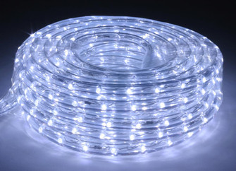 30 Foot Cool White 6400 Kelvin LED Flexible Rope Light Kit with Mounting Clips (44|LR-LED-CW-30)