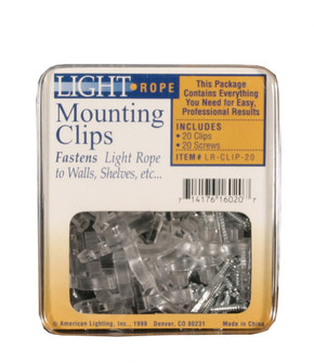 20 Rope Light Mounting Clips with Screws (44|LR-CLIP-20)