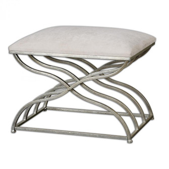 Uttermost Shea Satin Nickel Small Bench (85|23091)