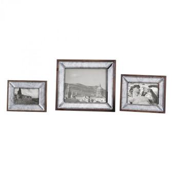 Uttermost Daria Antique Mirror Photo Frames S/3 (85|18567)