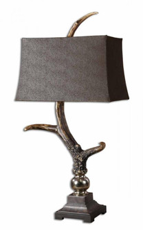 Uttermost Stag Horn Dark Shade Table Lamp (85 27960)