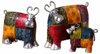 Uttermost Colorful Cows Metal Figurines, Set/3 (85 19058)