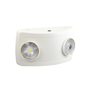 Compact Dual Head LED Emergency Light with 3.6V/3W Battery for Remote Capability, 2x (104 NE-602LEDHORCW)