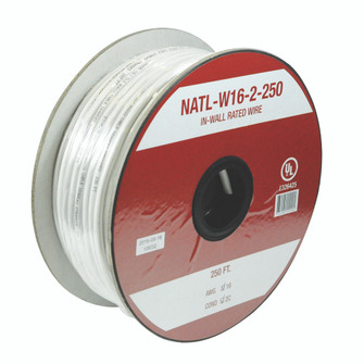 16AWG 2C IN-WALL RATED WIRE, 2 (104|NATL-W16-2-250)
