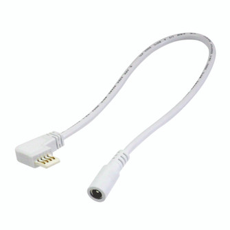 12''  Side Power Line Cable for Lightbar Silk, Right, White (104|NAL-807W)